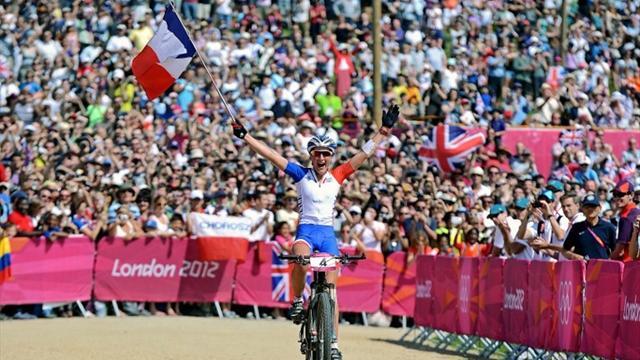 Bresset, championne olympique / Photo : AFP