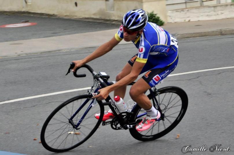 L'Ucéniste lors du critérium de Brissac-Quincé / Photo : Camille Nicol