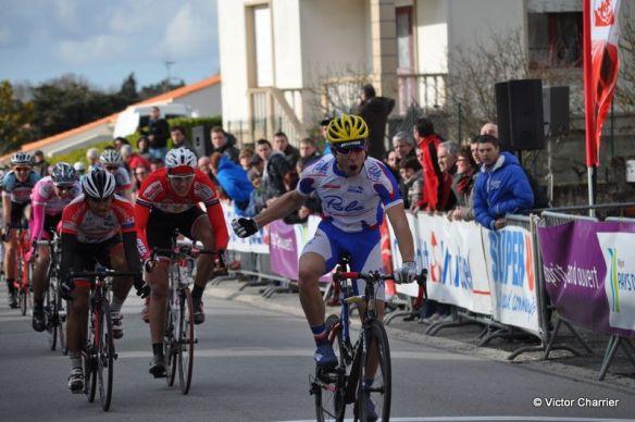 """Clément Barbeau a acquis sa sélection après une victoire sur la Bernaudeau et une 3e place sur la """" Bobet """" / Victor Charrier"""