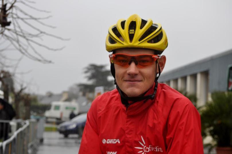 Au départ du Tour du Finisètre, le coureur de la Cofidis paraissait souriant / Mathilde L'Azou