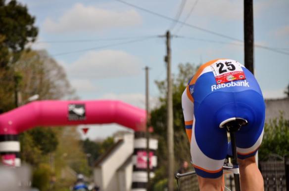 Dylan Van Baarle (Rabobank) s'est facilement imposé sur l'épreuve chronométrée / Mathilde L'Azou