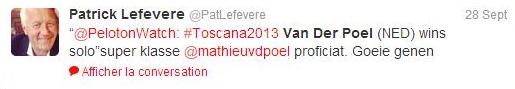tweet lefevere