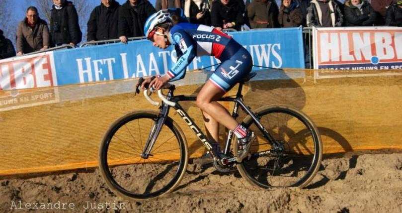 Lucie Chainel l'an passé dans le sable de Koksijde
