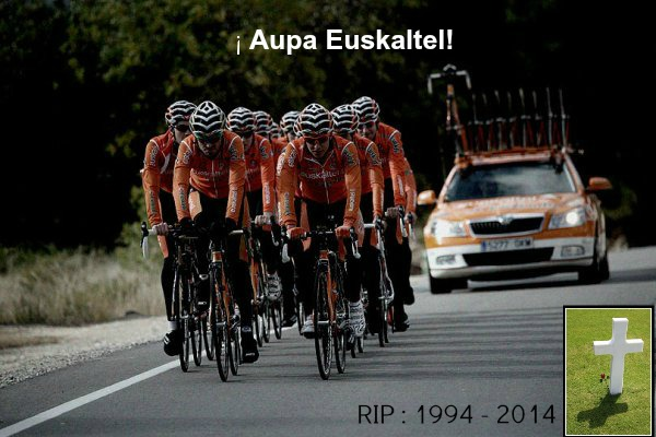 L'équipe Euskaltel aura vécu pendant 20 ans.