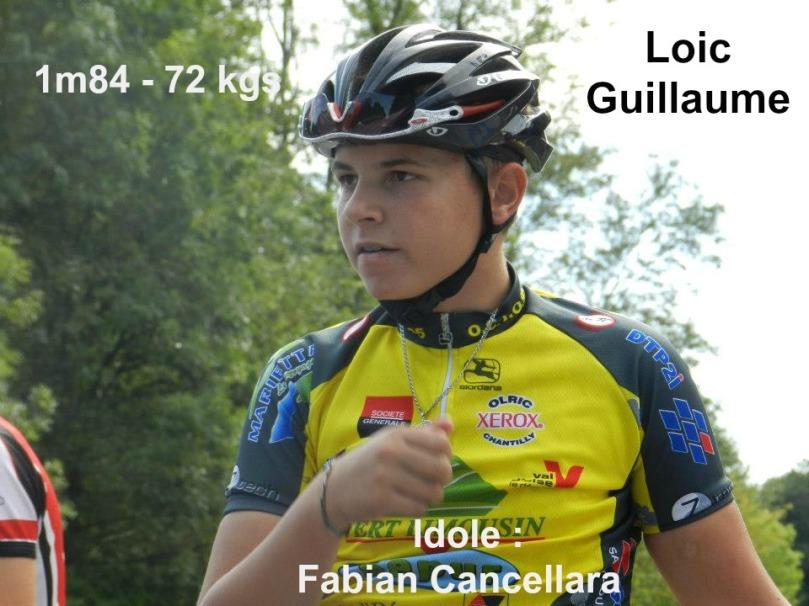 Loic Guillaume (Junior1) fait parti des recrues de l'équipe