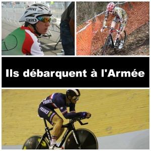 Trois des recrues de l'équipe cycliste de l'armée de terre