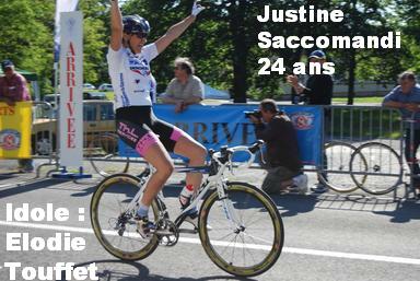 Justine Saccomandi capitaine de route d'Argenteuil