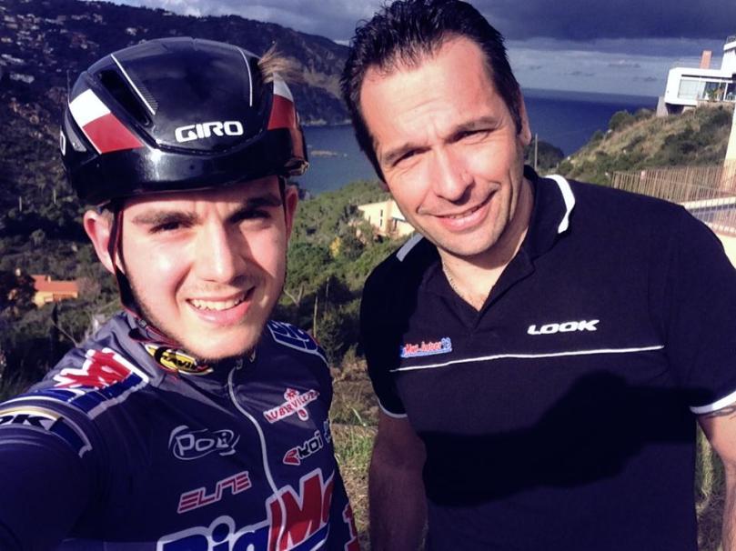 Guillaume Mouchard en compagnie de Christophe Piry, son directeur sportif