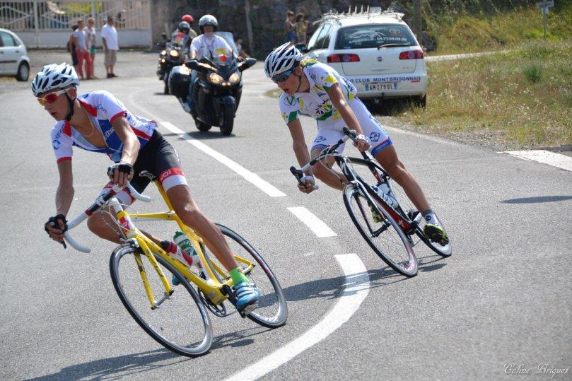 Thomas Gaultier lors de sa folle échappée des Championnats de France / Coline Briquet
