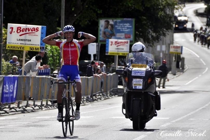 Rayane Bouhanni, 2e, vainqueur de la finale du challenge national 2013