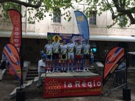 Le comité régional de Champagne-Ardennes et le champion de France Cadet 2012 : Valentin Ortillon