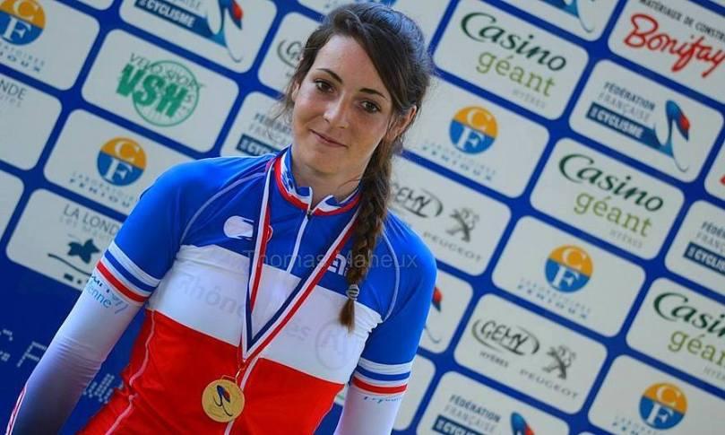 Marion Borras, championne de France junior de poursuite individuelle, fait partie des quatre filles retenues.