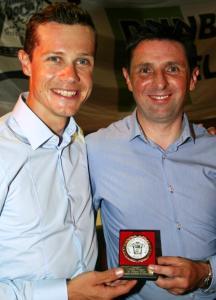 Nicolas Roche en compagnie de son acolyte, Phil Finnegan