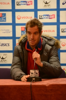 "Richard Gasquet ""heureux d'avoir pu finir en deux sets"" face à Lucas Pouille / ©David Caro"
