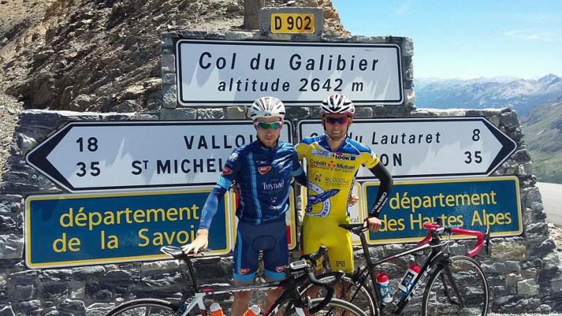 De retour en France, Tom Bossis avait monté le Galibier avant Chantonnay. Du moins l'espérait-t-il. (DR)