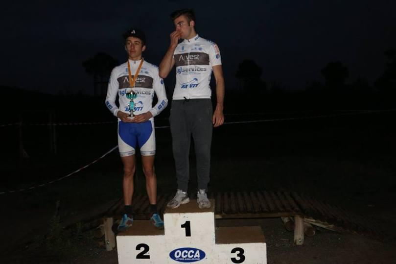 Dylan Maldonado n'est pas monté sur le podium, lors du championnat régional de cyclo-cross.