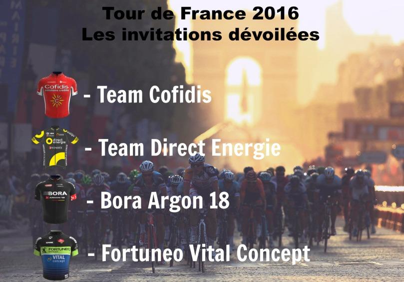 Le Tour de France a dévoilé ses quatre invitations pour 2016