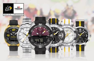 Tissot a créé une ligne de montres spéciales pour le Tour de France