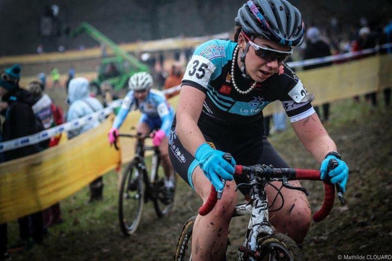 Axelle Dubau-Prévôt lors de la Coupe de France de cyclo-cross, à Nommay, en décembre 2016
